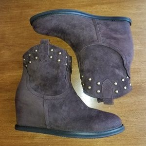 bf7047739d9b Muk Luks Shoes - Muk Luks Talia studded wedge faux fur boots